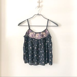 American Eagle Outfitter floral crop tank